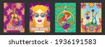 hippie peace and love posters...   Shutterstock .eps vector #1936191583