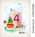Fourth Birthday Card. Birthday...