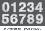 white grunge halftone numbers... | Shutterstock .eps vector #1936195390