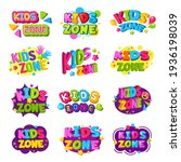 playroom logo. kids zone... | Shutterstock . vector #1936198039