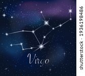 zodiac sign virgo on against... | Shutterstock .eps vector #1936198486