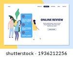 online review landing page.... | Shutterstock . vector #1936212256