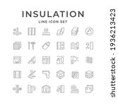 set line icons of insulation... | Shutterstock .eps vector #1936213423