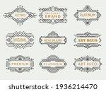 art deco labels. frames vintage ... | Shutterstock . vector #1936214470