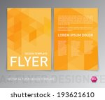 abstract vector modern flyer  ... | Shutterstock .eps vector #193621610