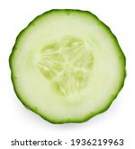 Cucumber Half Isolated On White ...