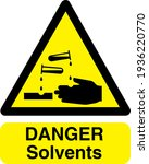 danger solvents sign board with ... | Shutterstock .eps vector #1936220770