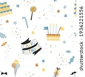 Party Sweets Seamless Pattern....