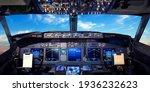 Cockpit Pilot Flight Deck...
