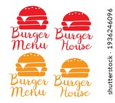 burger and fast food logo.... | Shutterstock . vector #1936246096