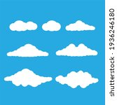 cartoon clouds. set of white... | Shutterstock . vector #1936246180