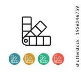palette flat vector icon. tone... | Shutterstock .eps vector #1936246759