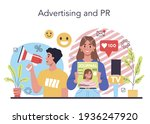 advertsing and pr concept....   Shutterstock .eps vector #1936247920