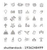 easter icons set. christianity...   Shutterstock .eps vector #1936248499