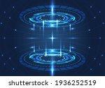 digital futuristic empty stage... | Shutterstock .eps vector #1936252519