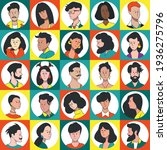 a set of portraits of icons of... | Shutterstock .eps vector #1936275796