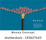 money concept design and... | Shutterstock .eps vector #193627610