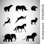 Animal Iconic Shapes - stock vector