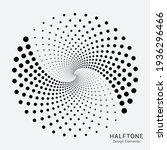 halftone circular logo set.... | Shutterstock .eps vector #1936296466