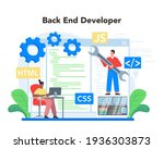 back end development concept.... | Shutterstock .eps vector #1936303873
