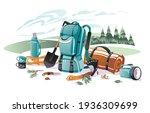 set of equipment for camping...   Shutterstock .eps vector #1936309699