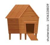 funny wooden hen house in...   Shutterstock .eps vector #1936328839