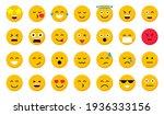 set of cartoon emoticons. emoji ... | Shutterstock .eps vector #1936333156
