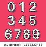 set of vector retro numbers. | Shutterstock .eps vector #1936333453
