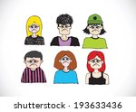 set various emotions people...   Shutterstock .eps vector #193633436