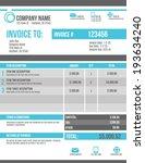 customizable invoice template...   Shutterstock .eps vector #193634240