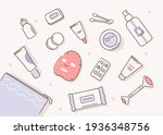 cosmetic bag with different...   Shutterstock .eps vector #1936348756