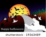 halloween vector background | Shutterstock .eps vector #19363489