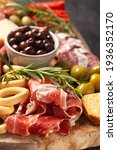 charcuterie board with spanish...   Shutterstock . vector #1936352170