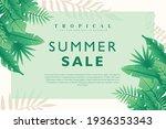 summer sale tropical background ... | Shutterstock .eps vector #1936353343