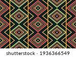 abstract ethnic geometric... | Shutterstock .eps vector #1936366549
