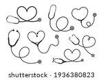 vector nurse stethoscope...   Shutterstock .eps vector #1936380823