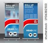 red rollup banner  brochure... | Shutterstock .eps vector #1936382503