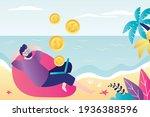 male character makes money... | Shutterstock .eps vector #1936388596