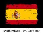vector grunge flag of spain. | Shutterstock .eps vector #1936396480