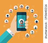 global communication concept... | Shutterstock .eps vector #193640216