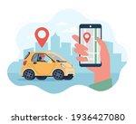 online delivery service concept ... | Shutterstock .eps vector #1936427080