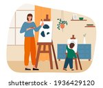 creative mother and son is... | Shutterstock .eps vector #1936429120