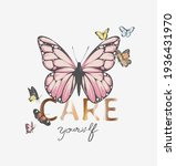 care yourself gold foil print... | Shutterstock .eps vector #1936431970