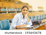 female indian college student... | Shutterstock . vector #193643678