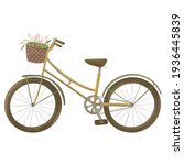 Cute Bike With A Basket And...