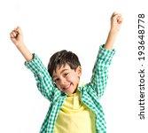 lucky brunette kid over...   Shutterstock . vector #193648778