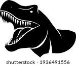Head Silhouette T Rex  A...