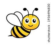 cute friendly bee. cartoon...   Shutterstock .eps vector #1936496830