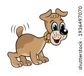 cute cartoon dog. puppy  doggy. ...   Shutterstock .eps vector #1936497070