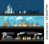 abstract city map illustration... | Shutterstock .eps vector #193649744